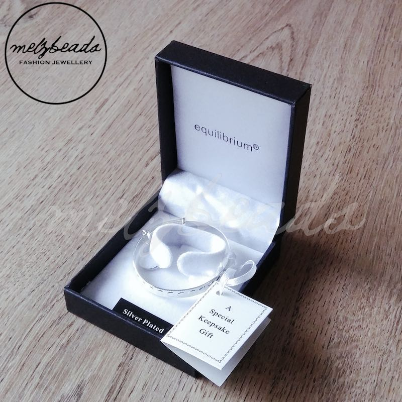 Silver Plated Baby Gifts Australia : Equilibrium baby christening baptism heart bangle