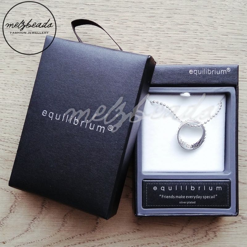 Equilibrium Inspirational Silver Ring Necklace Gift Boxed