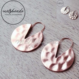 metal beaten earrings