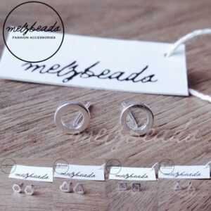 Tiny Geometric Sterling Silver Stud Earrings