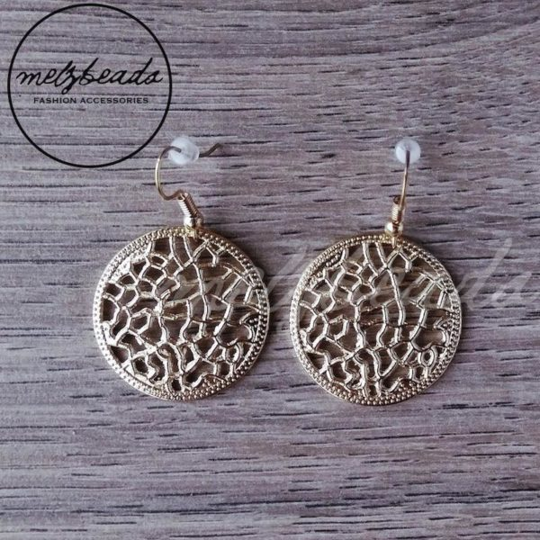 Gold circle earring