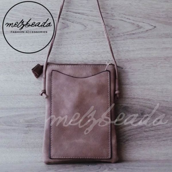 brown leather crossover bag
