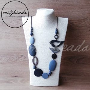 Blue bird necklace