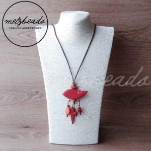 red bird pendant necklace