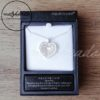Equilibrium Matt Silver Oval Circle Heart Diamante Necklace