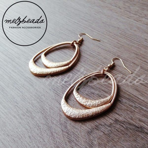 Gold Double Layer Dangle Earrings