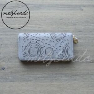 light grey wallet purse